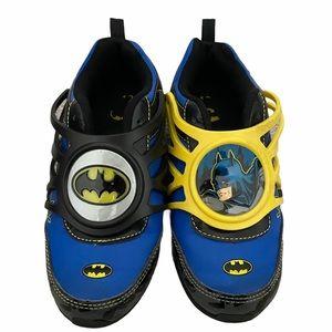 Batman Kids Boys Light Up Shoes Sneakers Superhero